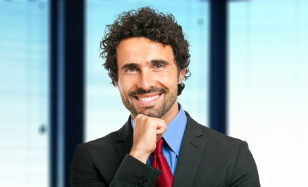 young executive: Friendly male manager portrait Stock Photo