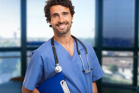 physician: Smiling doctor portrait