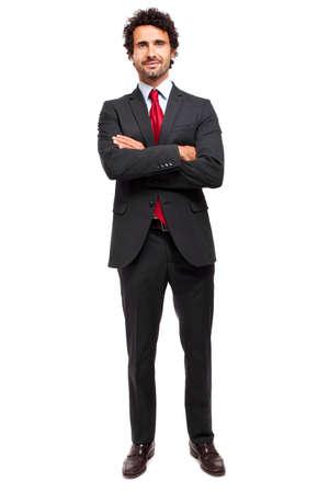 completos: Hombre de negocios sonriente de longitud completa
