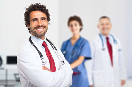 doctoring: Portrait of a smiling doctor Stock Photo
