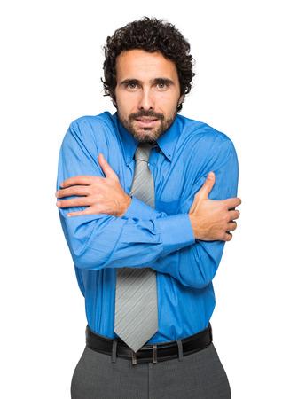 pauper: Portrait of a freezing businessman