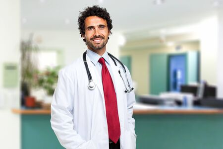 Portrait of a friendly doctor smiling