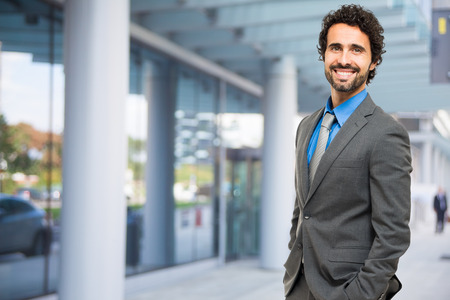 councilor: Handsome businessman portrait outdoor