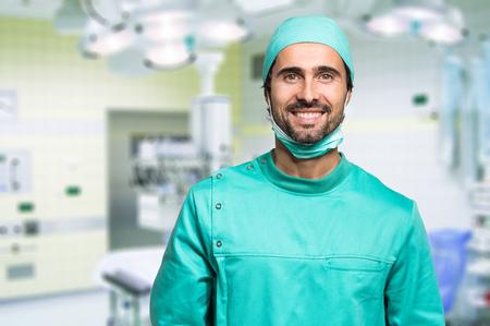 operating hygiene: Smiling surgeon