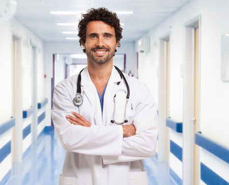doctoring: Portrait of a doctor in an hospital