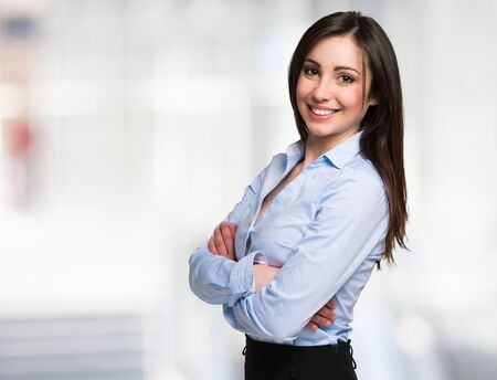 Portrait of a young smiling businesswoman Stock fotó