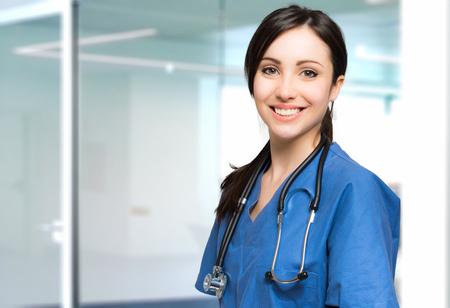Jonge verpleegster portret Stockfoto