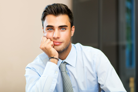 friendly young businessman 免版税图像