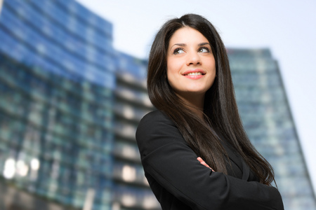 executive woman: Smiling businesswoman portrait