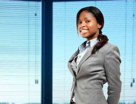 african business: Smiling young african business woman Stock Photo