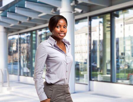 professional woman: Young black businesswoman portrait