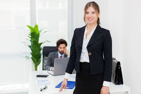 Business colleagues in an office Stock Photo