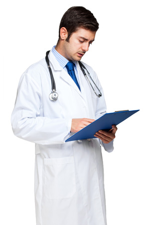 oncologist: Doctor writing on a clipboard