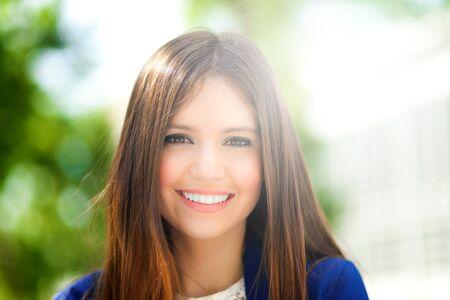 beautiful teen: Woman portrait Stock Photo