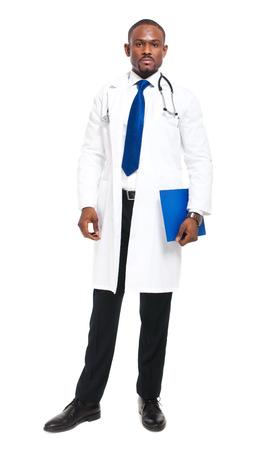 Black doctor portrait full length