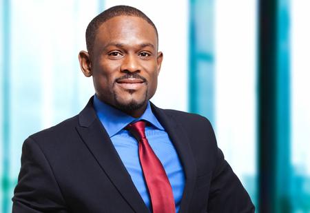 black man: Portrait of an handsome black businessman