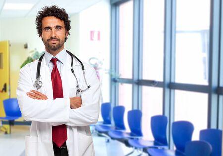 Portrait of a smiling handsome doctor
