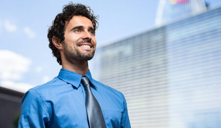 Handsome businessman portrait outdoor