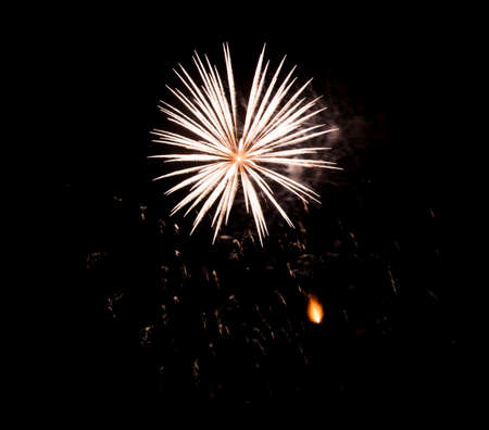 Beautiful Fireworks in the sky, celebration and new year concept Imagens