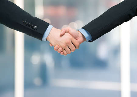 Handshake between business people
