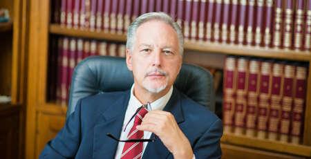 Successful lawyer portrait in his studio