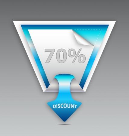 Blue discount label Stock Vector - 15984585