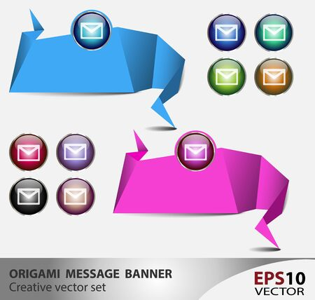 Origami presentation templates with empty area for text inclusion Stock Vector - 15984567