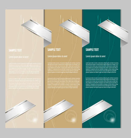 Multicolored design of simple and clean presentation templates with text boxes Stock Vector - 15984576