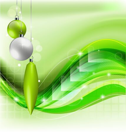 Green Christmas background Illustration