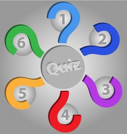 kwis: Ontwerp van een Quiz lege vector sjabloon met ruimte voor tekst inclusief Stock Illustratie