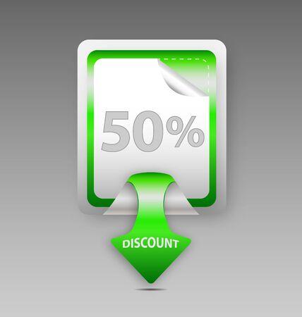 Design of  discount square label/sticker Stock Vector - 16160673