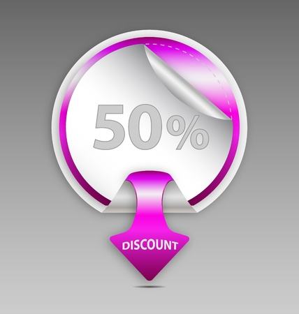 Design of  discount circle labelsticker Vector