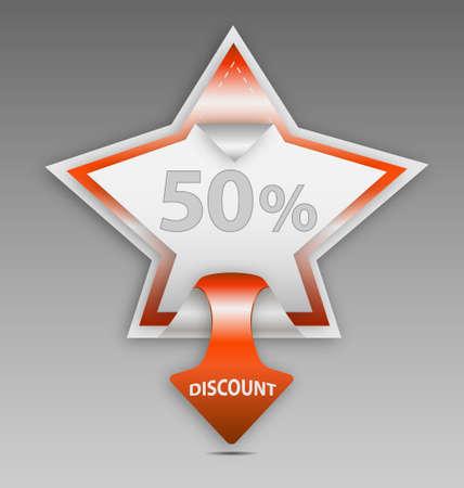 Design of  discount star label/sticker Stock Vector - 16160675