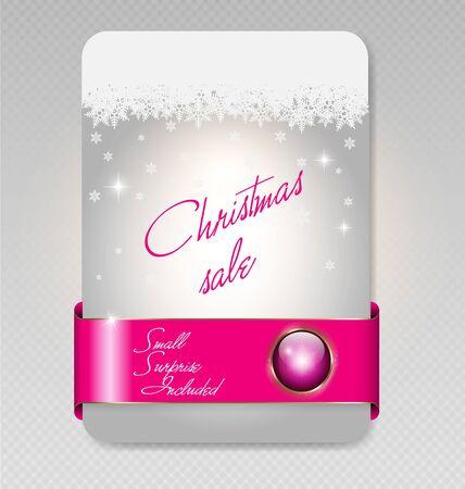 illustration of Christmas sale card