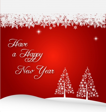 Illustration of New Year holiday background with stylized Christmas tree Illustration