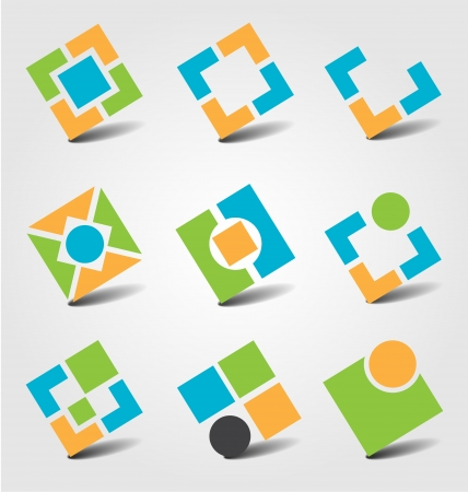 Creative collection of abstract business icons
