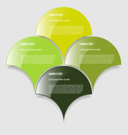 Elegant presentationoption template with four empty text boxes