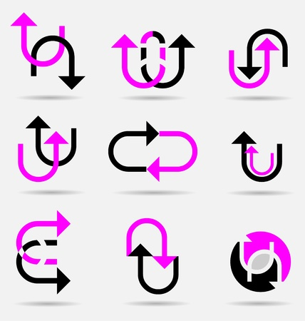 Creative collection of abstract business icons/logos Stock Vector - 16466421