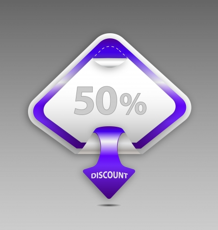 Design of a vector discount label Vector