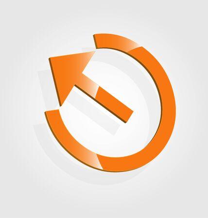 Abstract glossy 3D logo Vector