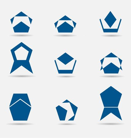 Creative collection of abstract business icons/logos Stock Vector - 16655955
