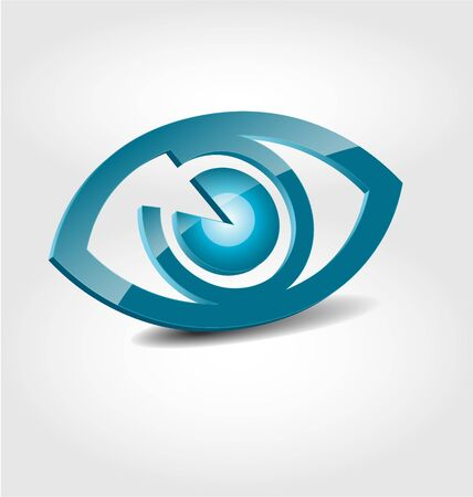 Originally designed abstract glossy 3D logo Vettoriali