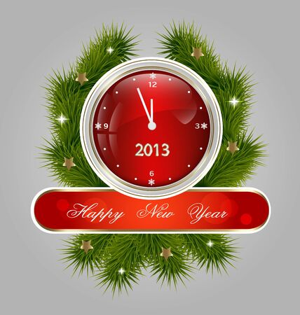Creative design of the New Year decorative label Stock Vector - 16685475