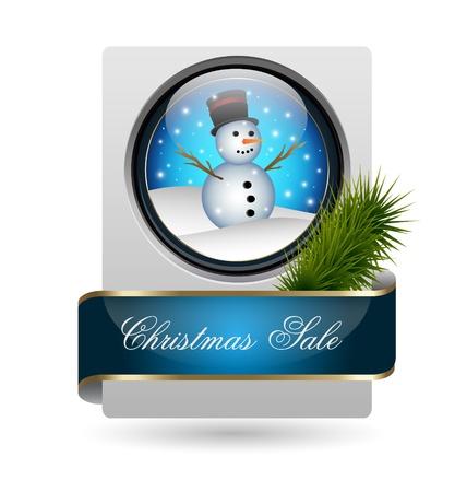 Vector illustration of Christmas sale card Vettoriali