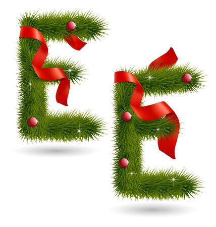 Creative design of Christmas-related decorative alphabet for multipurpose use Vector