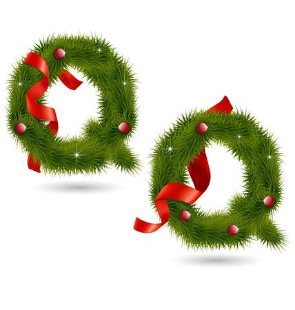 Creative design of Christmas-related decorative alphabet for multipurpose use