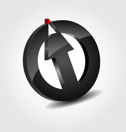 originally:  Originally designed abstract glossy 3D logo Illustration