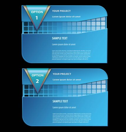 Elegant presentationoption template with empty text boxes Vector