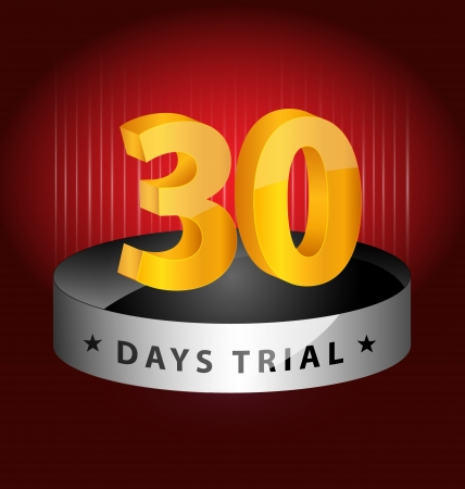 trials:  Originally created 30 days trial design element for multipurpose use Illustration