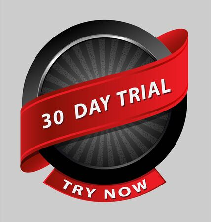 Originally created 30 days trial design element for multipurpose use Vector